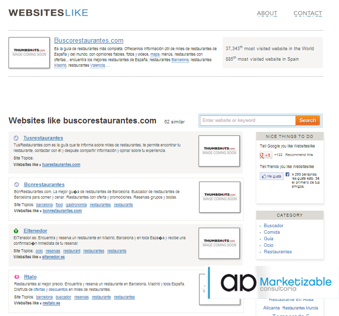 Websiteslike Herramienta Marketing Estratégico Marketizable